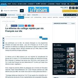 La réforme du collège rejetée par six Français sur dix