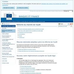 Réforme du marché de l'audit - Commission européenne