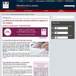 La réforme du droit des contrats entrée en vigueur le 1er octobre