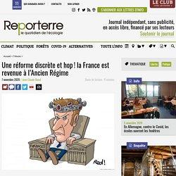 Une réforme discrète et hop! la France est revenue à l'Ancien Régime