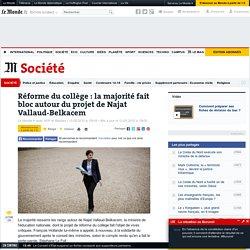 Réforme du collège : la majorité fait bloc autour du projet de Najat Vallaud-Belkacem