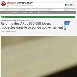 Réforme des APL: 650000 foyers modestes dans le viseur du gouvernement