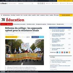 Réforme du collège : les opposants optent pour la résistance locale