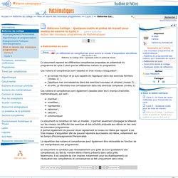 Réforme Collège - Quelques outils et pistes de travail pour mettre en oeuvre le Cycle 3 - Page 3/5 - Mathématiques