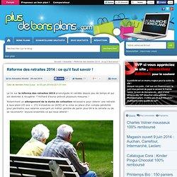 Réforme des retraites 2014 : ce qui change