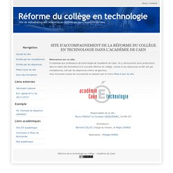 La réforme du collège en technologie dans l'académie de Caen