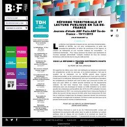 Réforme territoriale et lecturepublique en Île-de-France