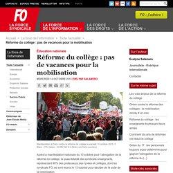 Réforme du collège : pas de vacances pour la mobilisation