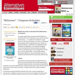 """""""Réformes"""" : l'impasse Schröder"""