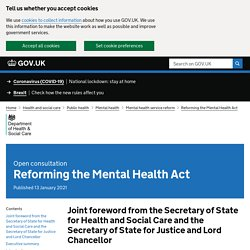 Brève - Reforming the Mental Health Act
