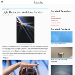 Light Refraction Activities for Kids