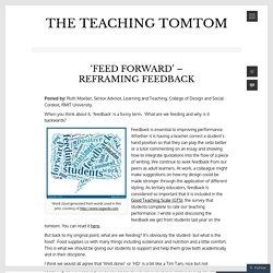 'Feed forward' – reframing feedback