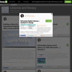 Reframing Digital Literacy « standard x-change | Libraries and literacy