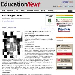 Reframing the Mind