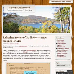 Refreshed review of Outlinely — a new outliner for Mac