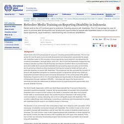 Refresher Media Training on Reporting Disability in Indonesia