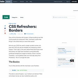 CSS Refreshers: Borders