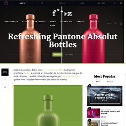 Refreshing Pantone Absolut Bottles