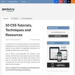 50 Refreshing CSS Tutorials, Techniques and Resources :Speckyboy Design Magazine