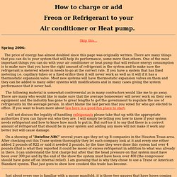 How to Add or charge Freon or Refrigerant to your air conditioning equipment