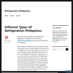 Different Types Of Refrigeration Philippines – Refrigeration Philippines