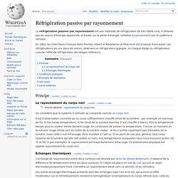 Wikipédia - Réfrigération passive par rayonnement