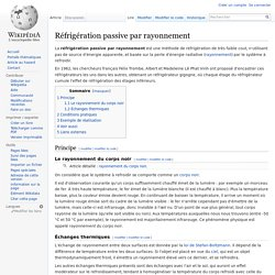 Wikipedia - Réfrigération passive par rayonnement