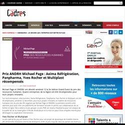 Prix ANDRH Michael Page : Axima Réfrigération, Panpharma, Yves Rocher et Multiplast récompensés