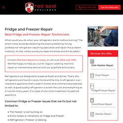 Fridge and refrigeration Repair North Vancouver - Red Seal Appliance