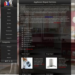 Refrigerator And Other Appliance Repair Services in Florida