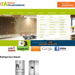 Refrigerator Appliance Repair Dallas