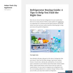 Refrigerator Buying Guide: 4 Tips to Help You Find the Right One – Heber Park City Appliance