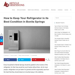 How to Keep Your Refrigerator in its Best Condition in Bonita Springs
