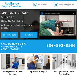 Appliance Repair Services, Refrigerator Repair Midlothian VA