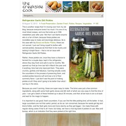 Refrigerator Garlic Dill Pickles - The Creekside Cook
