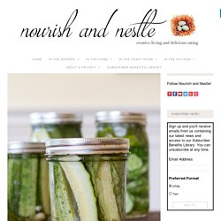Easy Refrigerator Dill Pickles Recipe, Jar at a Time