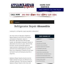 Refrigerator Repair Alexandria