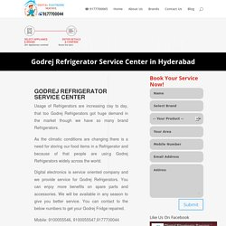Godrej Refrigerator Service Center in Hyderabad