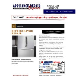 Refrigerator Repair Washington DC