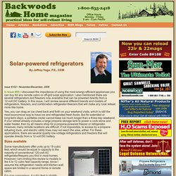 Solar-powered refrigerators