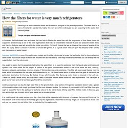 How the filters for water is very much refrigerators by FilterFor Fridge