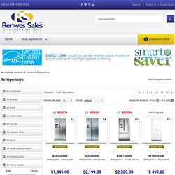 Refrigerators at Renwes Sales