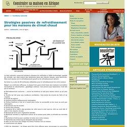 Stratégies passives de refroidissement pour les maisons de climat chaud, Ventilation naturelle, logement en Afrique