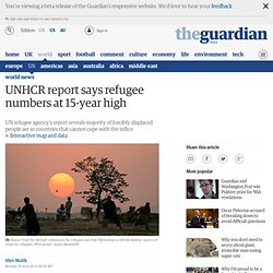 UNHCR report says refugee numbers at 15-year high