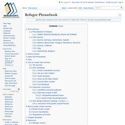 Refugee Phrasebook