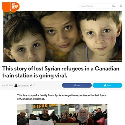 This story of lost Syrian refugees in a Canadian train station is going viral.
