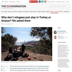 The dream of a better life - why refugees move on from Turkey and Greece