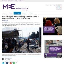 Des réfugiés deviennent passeurs suite à l'accord entre l'UE et la Turquie