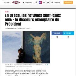 En Grèce, les réfugiés sont «chez eux»: le discours exemplaire du Président