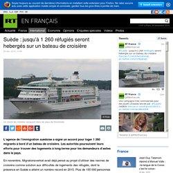 Suède : jusqu'à 1 260 réfugiés seront hebergés sur un bateau de croisière